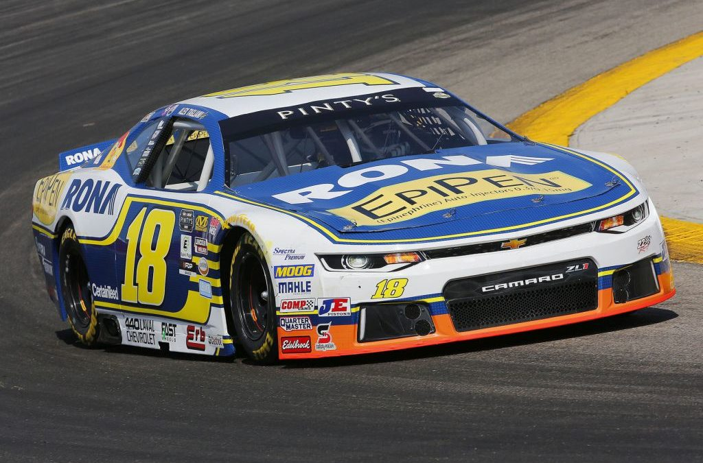 Alex Tagliani Scores Third Top-3 Finish of Last Four NASCAR Pinty's Series Races on Saturday Night in Edmonton