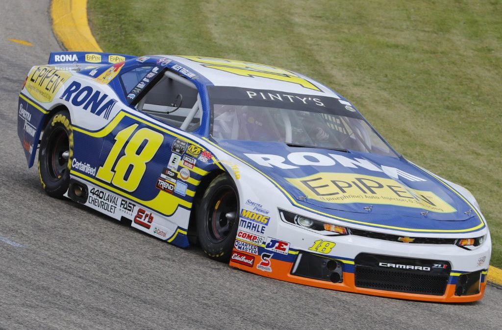 Third-Place Podium finish for Alex Tagliani in the first of the two NASCAR Pinty's Series Races in Saskatoon