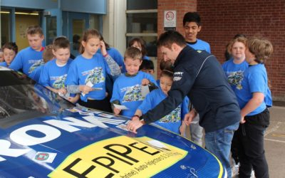 Racing Star Alex Tagliani Kicks of Food Allergy Awareness Month With Local Toronto Students Adding Design Colours to his 2019 NASCAR