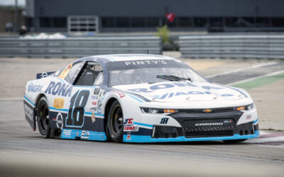 Alex Tagliani Leading the NASCAR Pinty's Driver's Championship Following a Strong Fourth Place Finish at Circuit ICAR